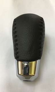 Toyota Estima Vellfire Alphard Wish OEM Original Gear Shift Knob - Black Stitching/Red Stitching