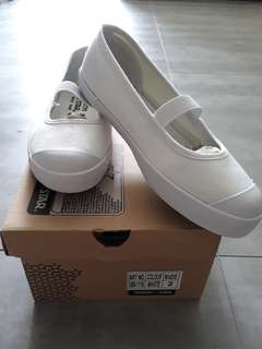 North Star White Canvas Shoes for Schooling (size 2)