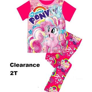 Clearance---  Little Pony Short Sleeve Pyjamas