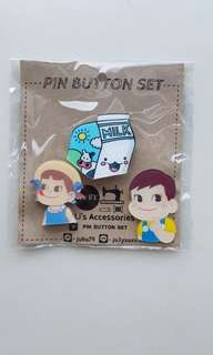 BN Milky Couple Pin Button Set - Blue