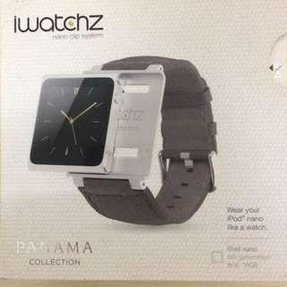 棕色原裝lwatchz Panama Collection watch band for iPod nano6 手錶帶