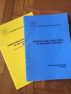 Singapore Institute of Architect contract books