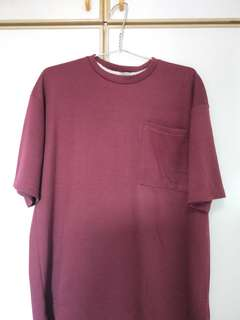 Maroon minimalistic oversized T shirt