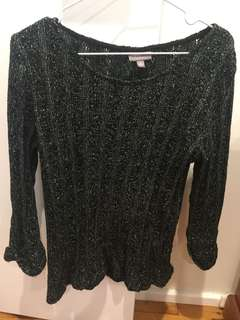 Black and silver jumper