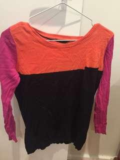 Block colour jumper
