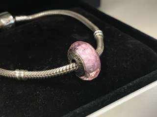 Pandora Charms Pink Glass
