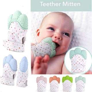 1pc baby chewing teething mitten gloves