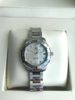 TAG HEUER AQUARACER WATCH WITH DIAMOND DIAL