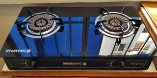 Pensonic glass top gas cooker