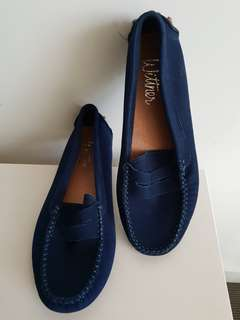 Wittner Royal Blue Suede Loafers. Size 36. Worn once.