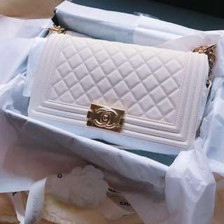 2018 Chanel Le Boy White Spring Collection 全新