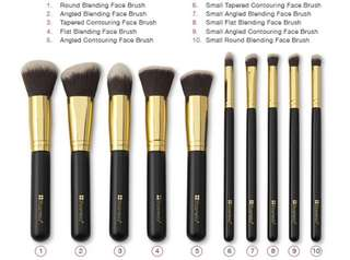 BH Cosmetic Sculpt and Blend 10 Piece Brush Set