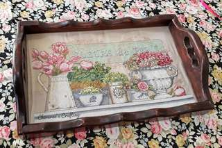 Coffe Brown Tray for needlepoint (embroidery & cross stitch)