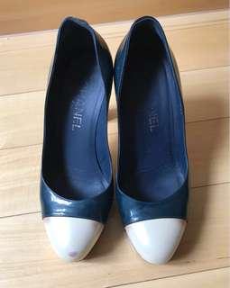 Chanel dark green high heels 37.5 (was $8200)