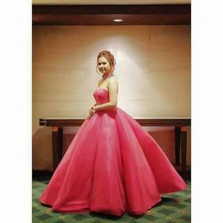 DANIEL MANILA PINK GOWN FOR RENT