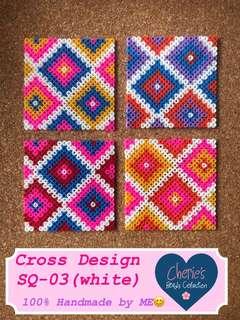 Handmade Beads Cup Coaster Set of 4