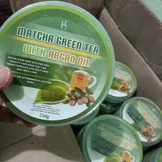 GREEN TEA MATCHA WITH ARGAN OIL
