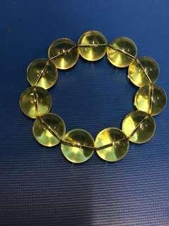 多米尼加藍珀 手串 每粒直徑20mm