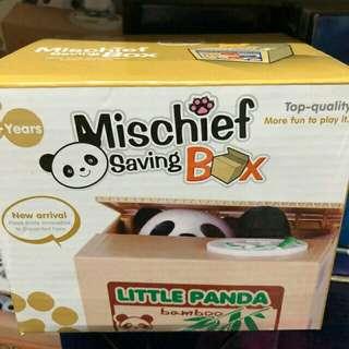 Mischief Saving Box Panda and Cat