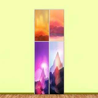 4 seasons Utility Cabinet Sticker Art Sets (4pieces)