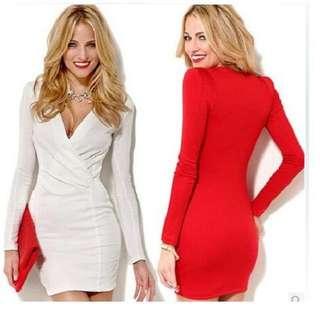 🆕Preorder➡️Wrap Neck Bodycon Dress ⬅️