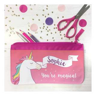 New Unicorn Customize Custom customised Personalised Personalized Pencil CASE