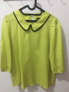 Preloved like new... Blouse warna hijau