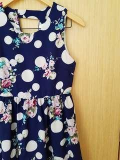 BN Navy Floral Dress