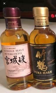 已停止生產日本威士忌180ml系列。