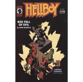 HELLBOY BOX FULL OF EVIL #1-2 (1999) Complete set  1st Appearance of Lobster Johnson!