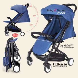 Baby Throne Stroller – PLUS Blue