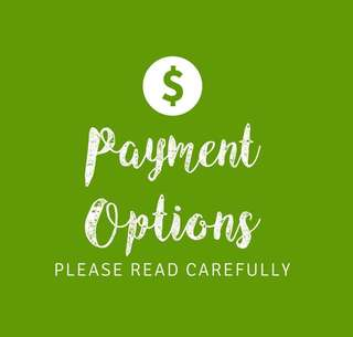 Payment Options - Pls Read Carefully