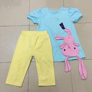 Girls Rabbit 2pcs Set