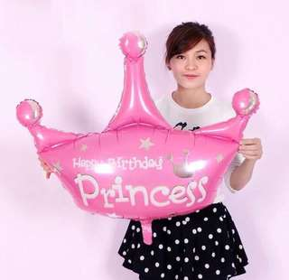 Princess Crown Balloon Jumbo