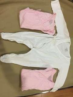 3 pcs. St. Patrick Sleepsuit 0-3