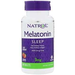 Natrol Melatonin 3mg, Fast Dissolve, Strawberry Flavor (90 Tablets)