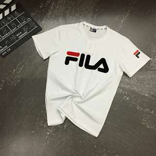 FILA classic logo Tshirt couple Tee Unisex