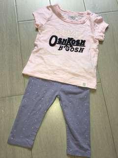 Oshkosh GAP Baby Girl Set 18m