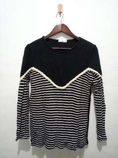 ❗[3 for 100] Black Striped Long Sleeves