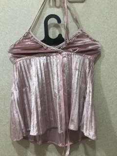sexy backless top pink