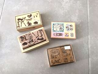 Wooden stamps set from Japan