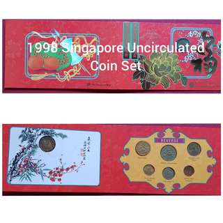 1998 Singapore Uncirculated Coin set