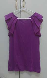 Loft Butterfly Sleeves Blouse - Violet