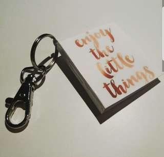 Tiny book keychain (custom made)