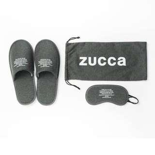 旅行用品 - 全新 ZUCCa 旅行 灰色 套裝 布袋+拖鞋+眼罩 家中/飛機/酒店/長途車也合用