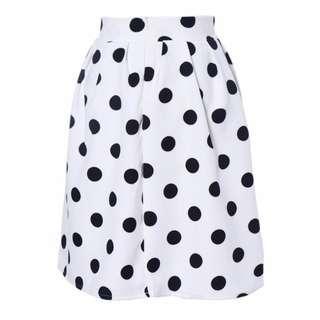 Umbrella Skirt Black Polka Dot Retro Puff Skirt