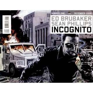 INCOGNITO #1-6 (2008) Ed Brubaker  Complete set