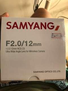 Samyang 12mm F2.0 MFT 4/3