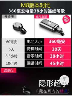 Bluetooth earphone earpiece