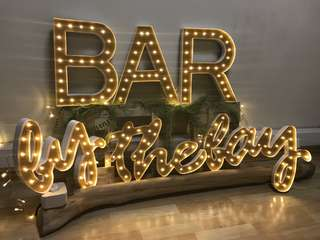 Marquee Letter Lightings Signage/Home Deco/Wedding Deco